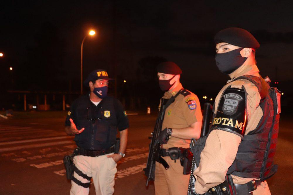 Policiais se reúnem em operação de combate a criminalidade em São Mateus do Sul
