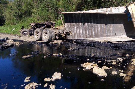 Vídeo: grave acidente deixa um óbito na BR-476 entre Lapa e São Mateus do Sul