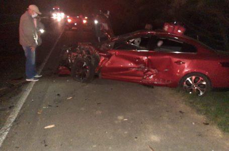 Acidente deixa duas pessoas feridas em acidente na BR-476 em São Mateus do Sul