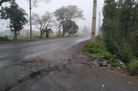 Colisão frontal entre dois veículos deixa um ferido em São Mateus do Sul