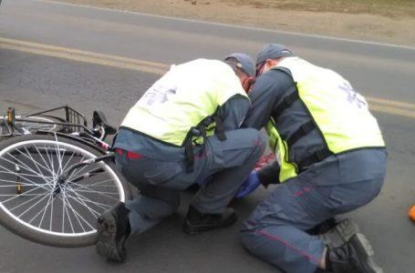 Ciclista é atingido por rodado de caminhão na rodovia BR-280