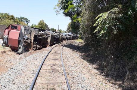 Trem sai dos trilhos em Teixeira Soares