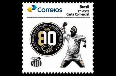 Selo e carimbo homenageiam 80 anos de Pelé