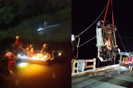 Duas pessoas morrem após veículo cair em Rio Timbó, região de Porto União
