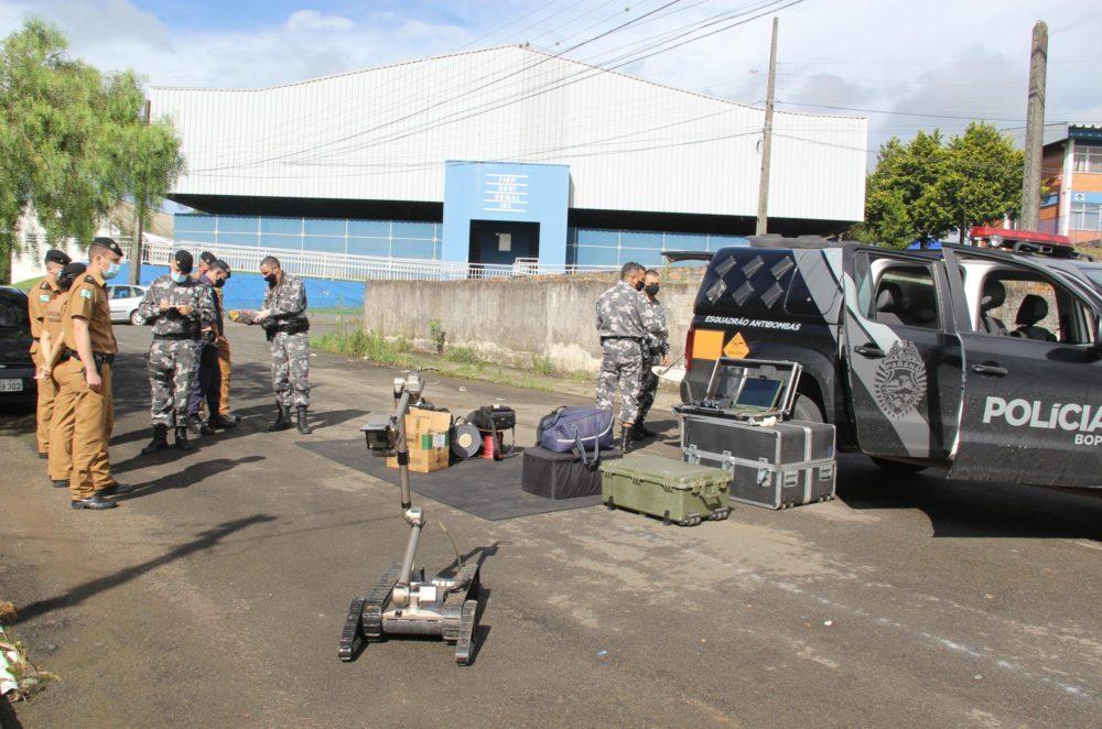 Esquadrão antibombas é acionado em Irati e chances de explosivo é descartada