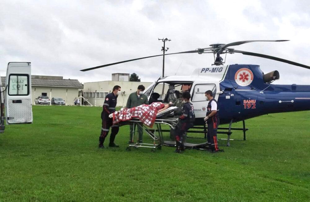 Helicóptero do SAMU é acionado em São João do Triunfo