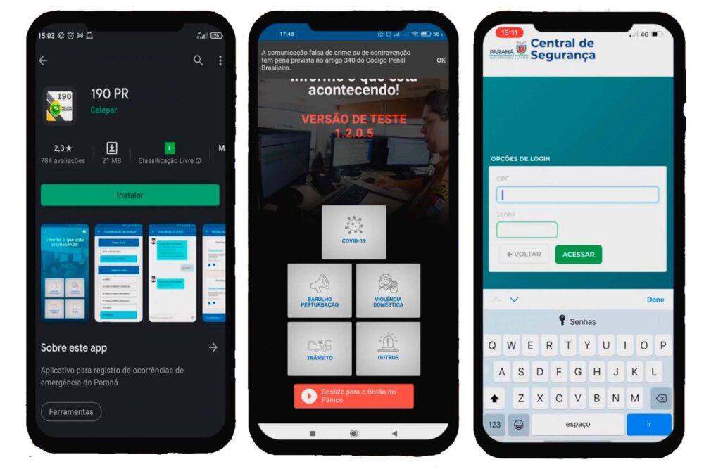 Paraná terá Botão do Pânico Virtual com o aplicativo 190
