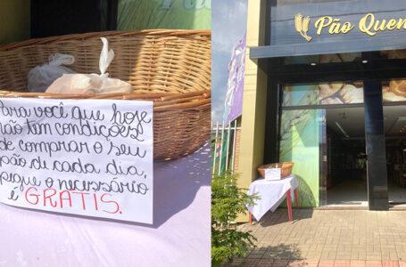 Solidariedade: Pão Quente prepara cesta para doação de pães aos moradores em vulnerabilidade