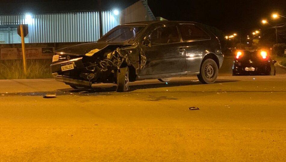 Motorista embriagado se envolve em acidente na Rua Dona Estefânia