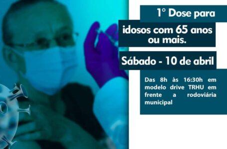 Idosos com 65 anos ou mais receberão primeira dose da vacina neste sábado (10) em São João do Triunfo