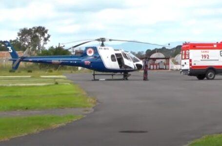 Bebê natural de São Mateus do Sul é socorrido pelo helicóptero do SAMU até Curitiba
