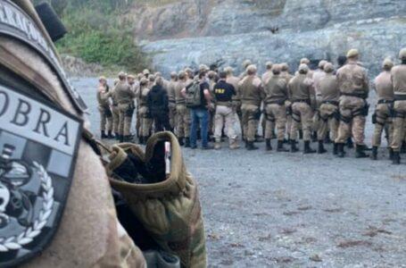 Polícia Militar realiza simulado de assalto à banco em Três Barras