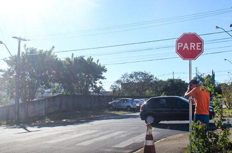 Rua de São Mateus do Sul tem mudança de preferencial de circulação