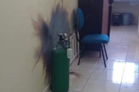 Em Paula Freitas, cilindro de oxigênio entra em combustão e técnica de enfermagem fica ferida
