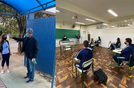 CESM é o 1º colégio estadual que voltou com as aulas presenciais em São Mateus do Sul