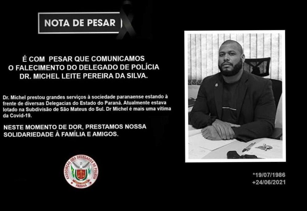 Delegado de São Mateus do Sul falece vítima da covid-19