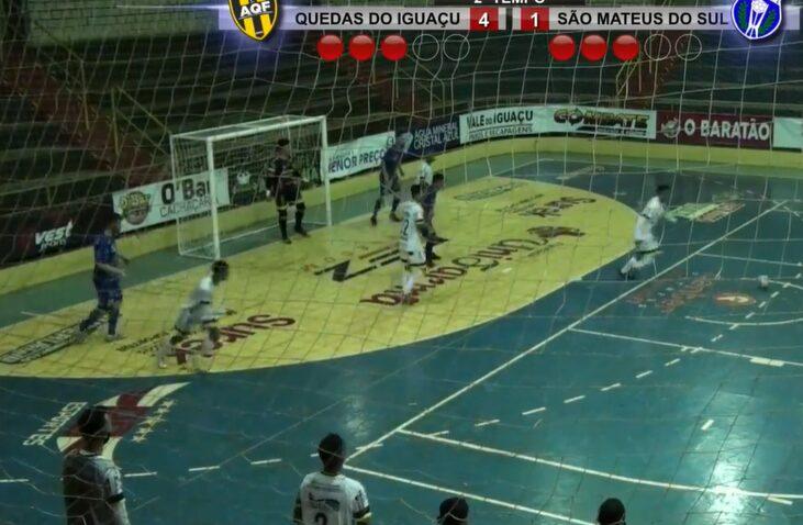 Em partida contra Quedas do Iguaçu, São Mateus Futsal perde por 4 a 1