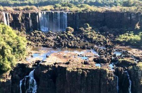 Estiagem afeta bacias dos rios Paraná e Iguaçu e 'seca' as Cataratas