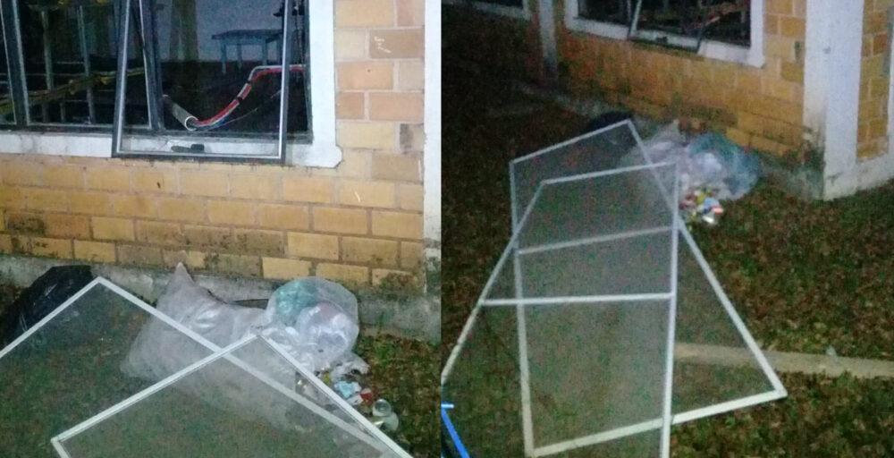 CMEI é alvo de vandalismo em São Mateus do Sul