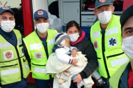 Criança de 2 anos é resgatada pelos Bombeiros de Santa Catarina após desaparecimento
