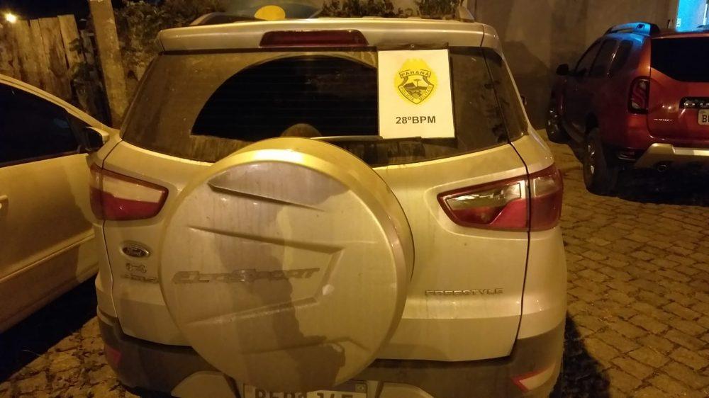 Veículo furtado em São Mateus do Sul é recuperado pela PM em Contenda; saiba detalhes