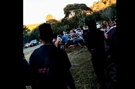 Dois são atingidos por tiros em briga generalizada no Parque da Pedreira