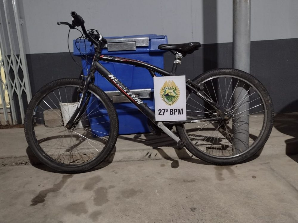 Rotam recupera bicicleta em São Mateus do Sul