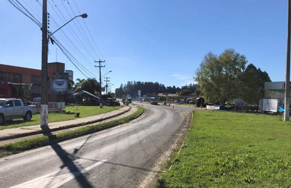 Último ponto de bloqueio em SC, Canoinhas encerra manifestação na BR-280