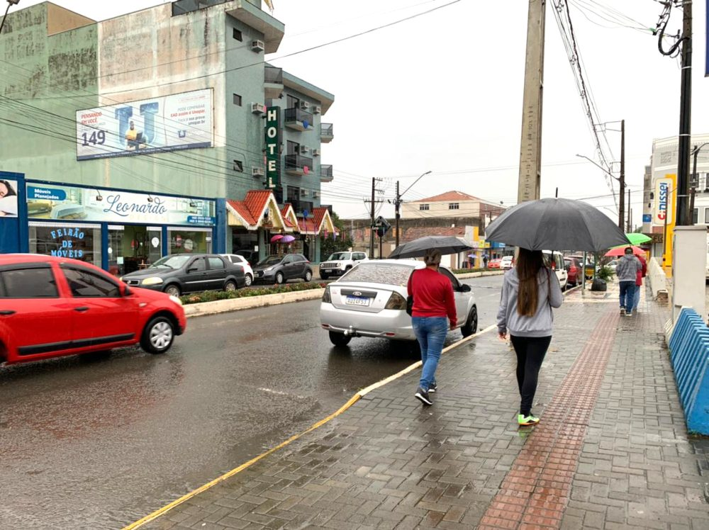 Simepar prevê 91,7 milímetros de chuva para São Mateus do Sul no fim de semana
